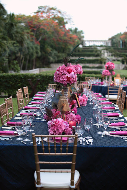 RBH Designer Concepts: Navy, Fuchsia & Gold Wedding Inspirations