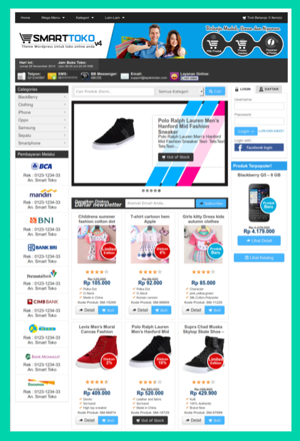 Themes toko online wordpress