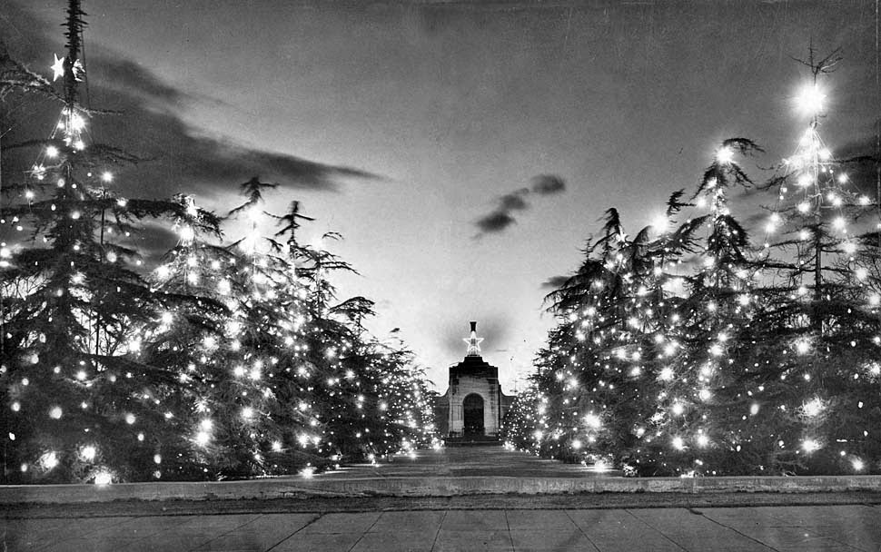 coliseum christmas lights los angeles 1949