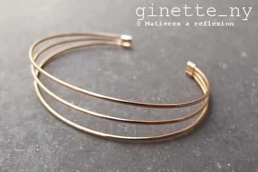bracelet Ginette NY en or rose 18 carats