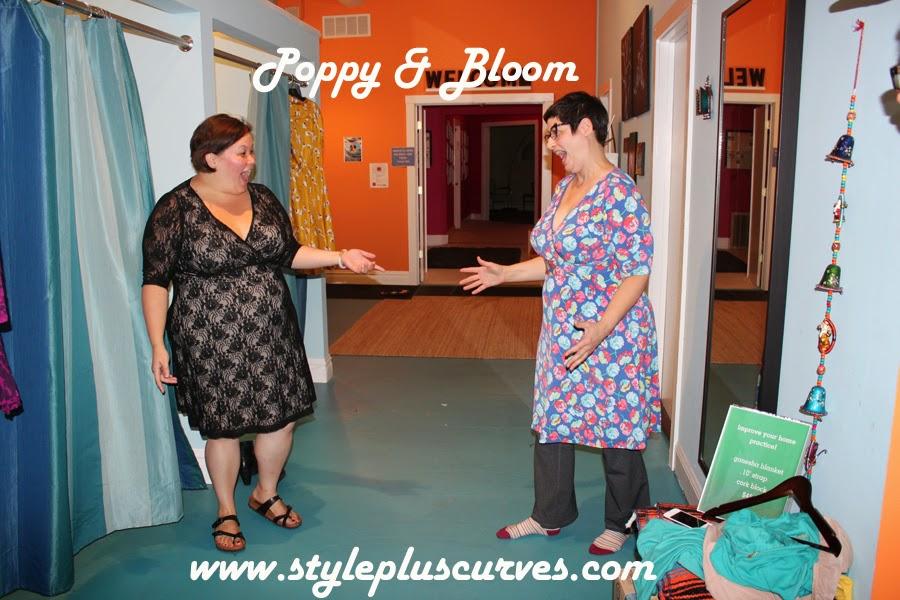 Plussize girls in dresses from Poppy & Bloom at Ganesha Yoga
