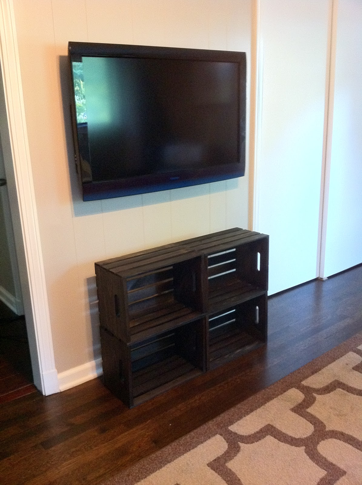 Midsouth stagers shelving under a wall mounted tv - Under wall mounted tv cabinet ...