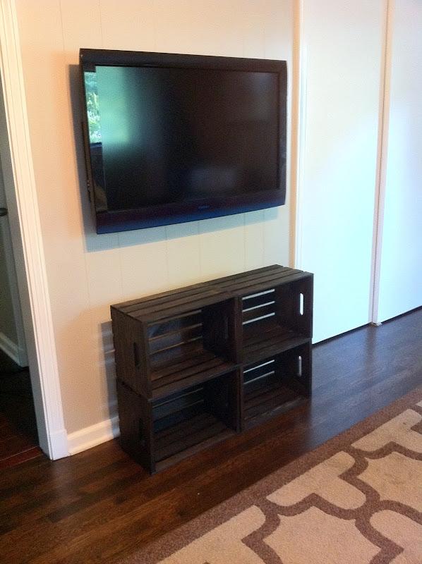 DIY Shelf Under Wall Mounted TV