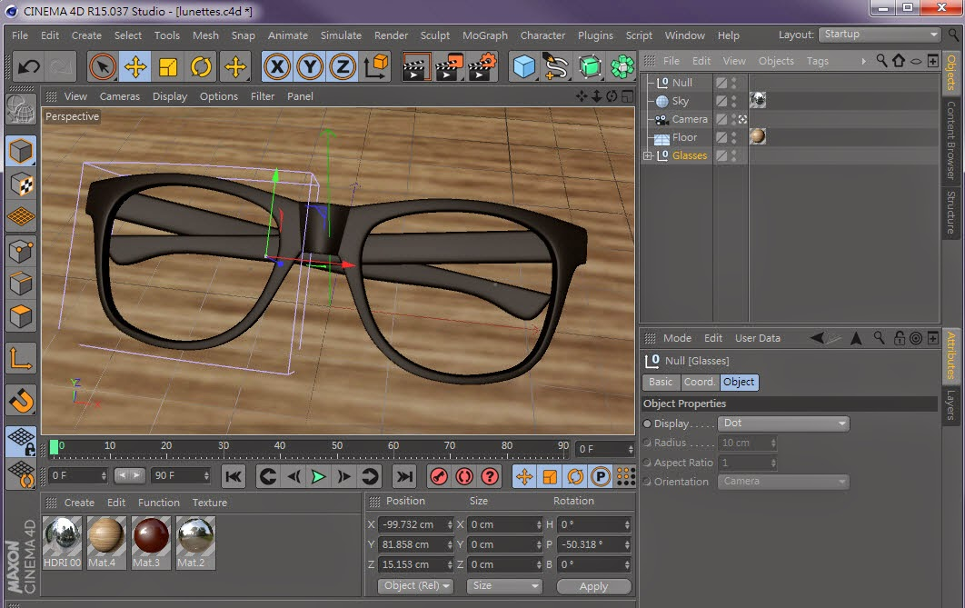 Interface Overview in C4D 01