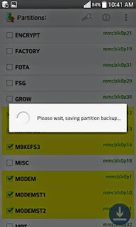 Backup Efs Imei modem partition on any sony