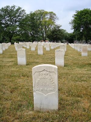 john henry gauslin wood national cemetery milwaukee wisconsin