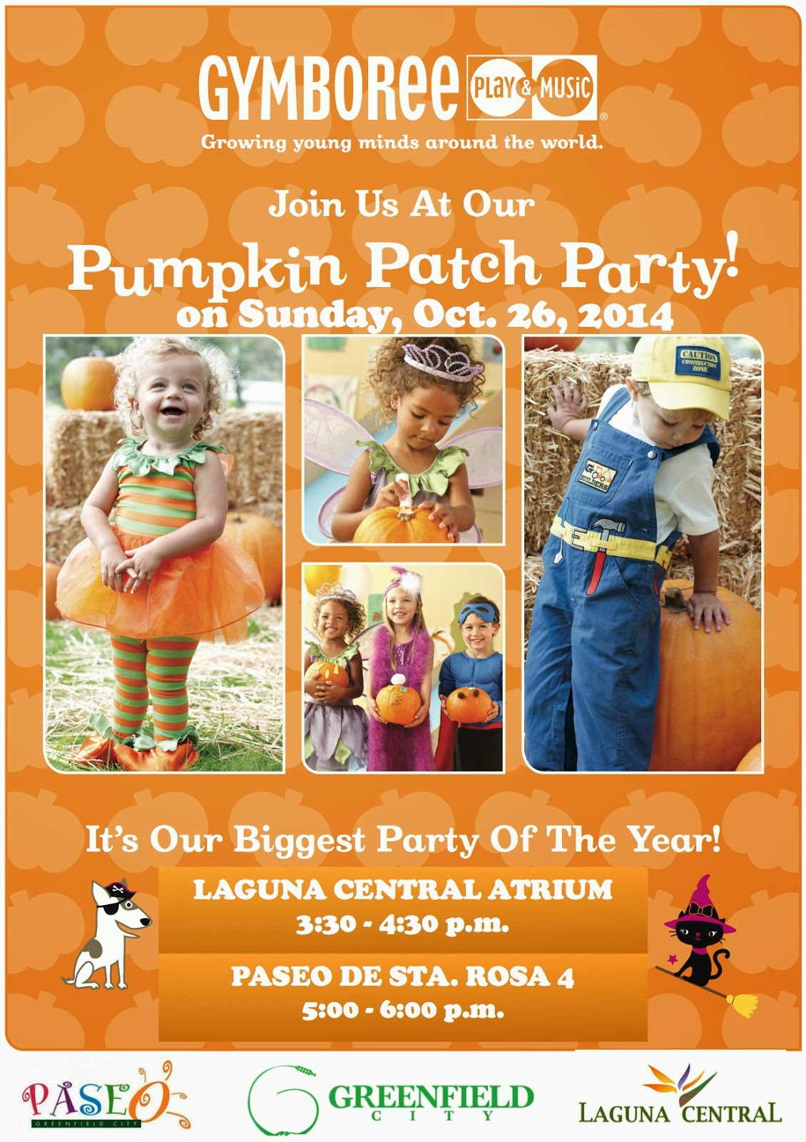 Gymboree  Sta. Rosa's Pumpkin Patch Party at Greenfield City!