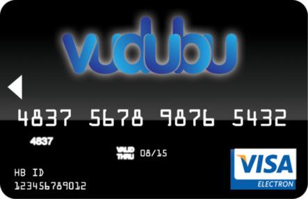 Carte Visa prépayée de Vudubu