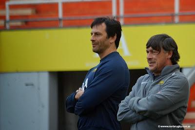 Daniel Hourcade junto a Raúl Pérez