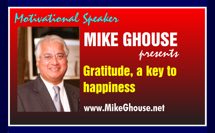 Gratitude, a key to happiness