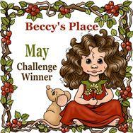 """Winner Beccy's Place op 01-06 2017 (#Mei) """"Paars Rood Voorjaar"""""""