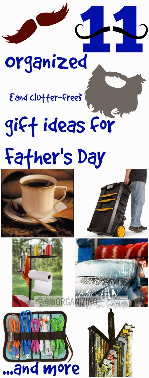 11 Organized {and clutter-free} Father's Day Gift Ideas :: OrganizingMadeFun.com