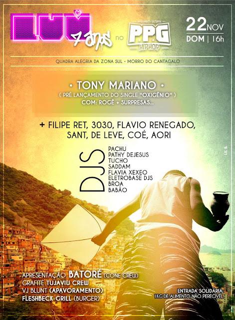 LUV 7 ANOS e MOVIMENTO CULTURAL - PPG HIP-HOP Fazem Festa Solidária no Morro do Cantagalo!