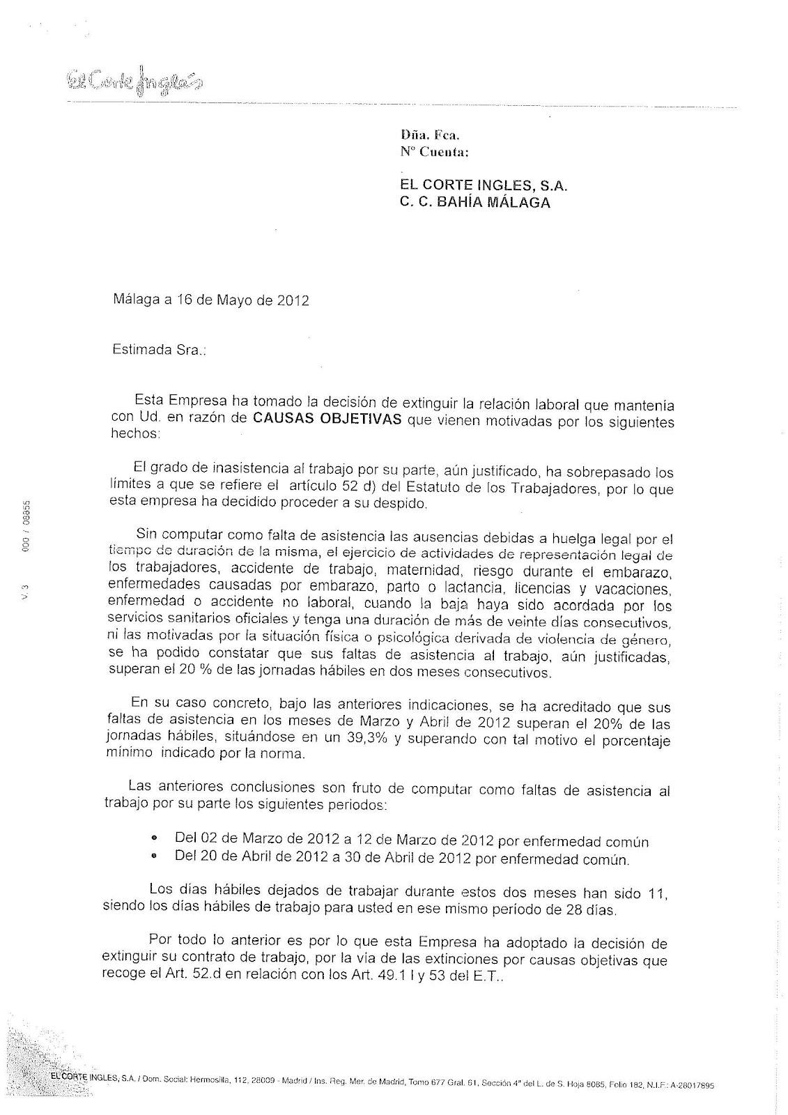 Secci sindical de cc oo de catalunya a el corte ingl s - El corte ingles reformas ...