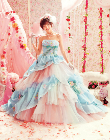 Wedding collections love mary spring 2013 wedding dresses for Pink and blue wedding dresses