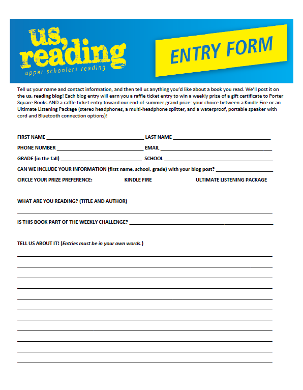 Click on the image below to access a printable entry form to turn in at your local library.