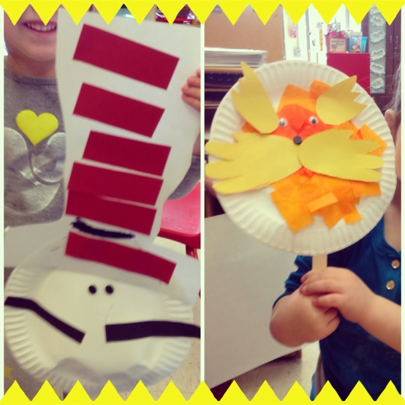 Little mrs preschool dr seuss learning adventures for Dr seuss crafts for preschool