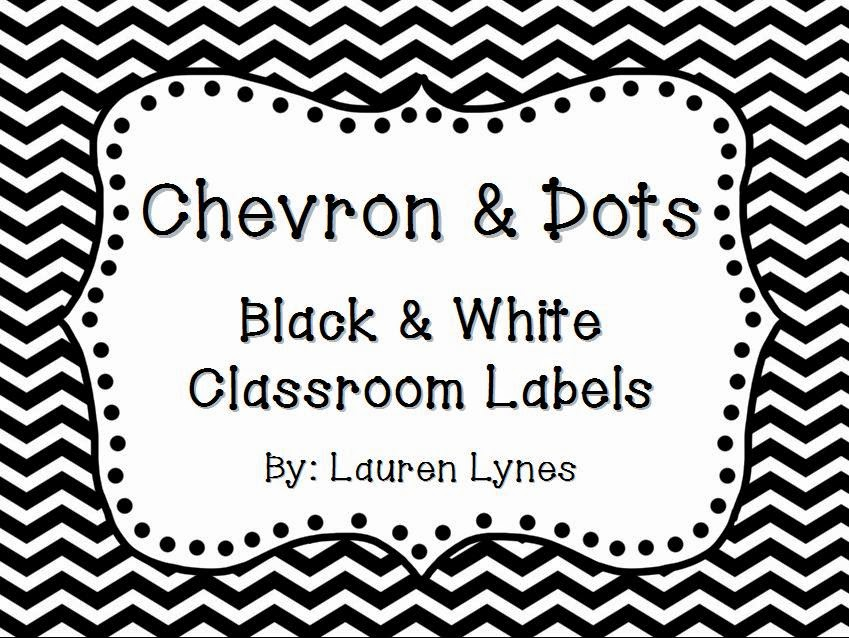 http://www.teacherspayteachers.com/Product/Chevron-Dots-Black-and-White-Classroom-Labels-714409