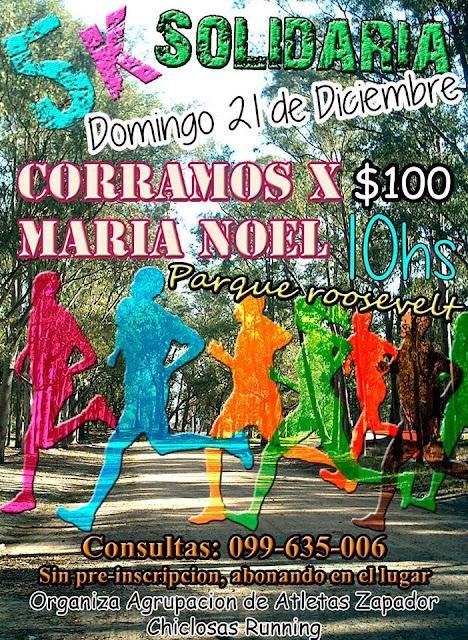 5k solidaria Corramos x María Noel (parque Roosevelt, 21/dic/2014)