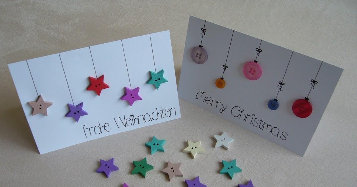 Ideenreise schnelle weihnachtskarten - Weihnachtskarten basteln mit kindern ...