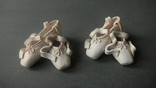 scarpette ballerina bomboniere fatte a mano regali artigianali maestra di danza decorazioni torta orme magiche