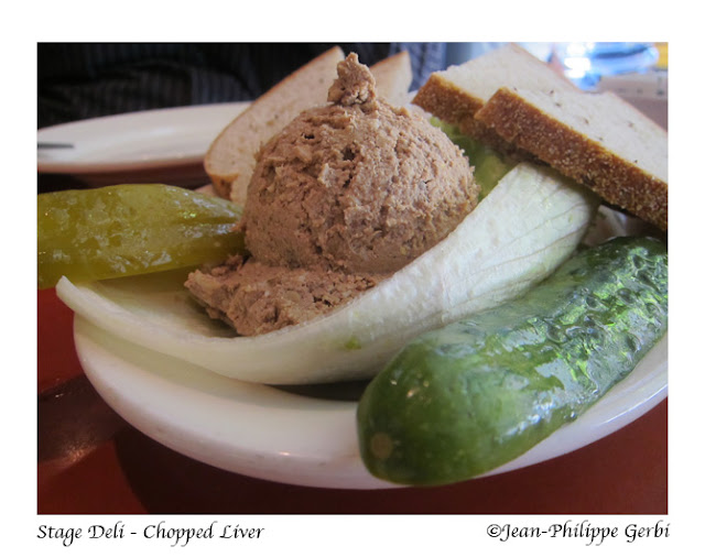 Image of Chopped liver at Stage deli in NYC, New York
