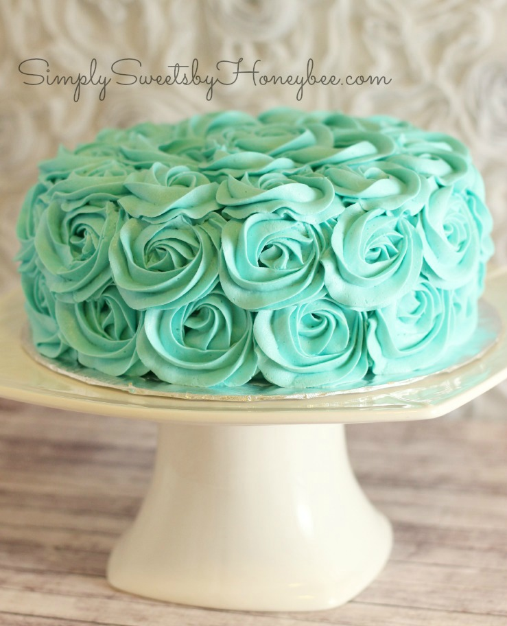 Rose Swirl Cake Video Tutorial Simplysweetsbyhoneybee Com