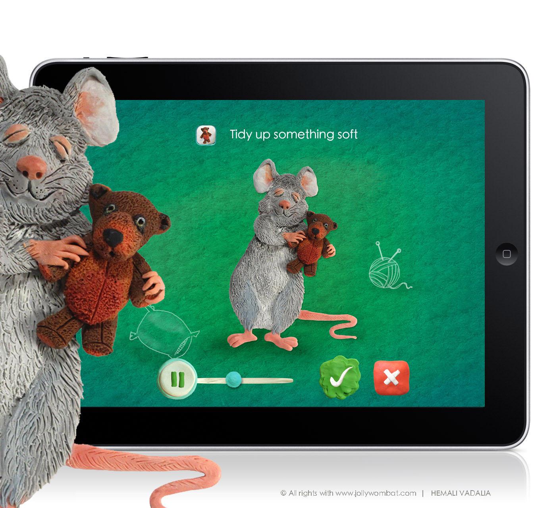 Character Design Ipad App : Hues views task illustrations tidy kids ipad app