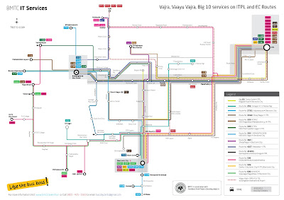 BMTC premium buses route map