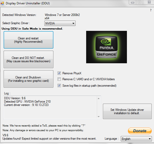 DisplayDriver Uninstaller