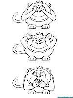 Mewarnai Gambar Berbagai Ekspresi Wajah Gorila Yang Lucu