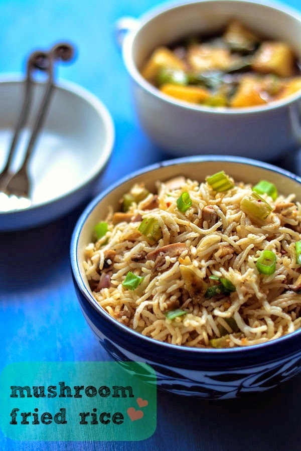 mushroom fried rice Fried rice are my favourite, because it is so easy to whip up, plus it taste so yummy if you have leftover cooked rice, then this is so much easieryou can make this with anything and it absorbs the flavour of the ingredient which you add.