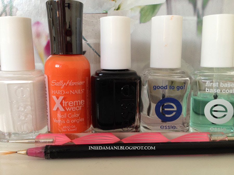 essie blanc essie licorice sally hansen sun kissed