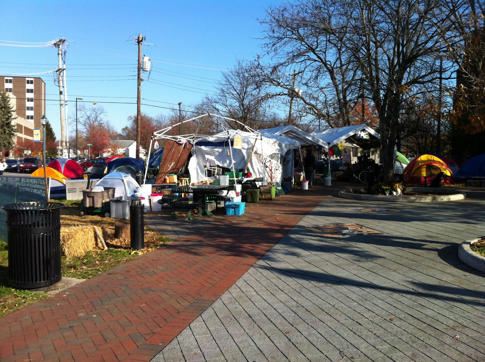 Occupy Bloomington in Peoples Park