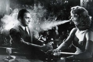 Woman smoking D.O.A. 1950 movieloversreviews.blogspot.com