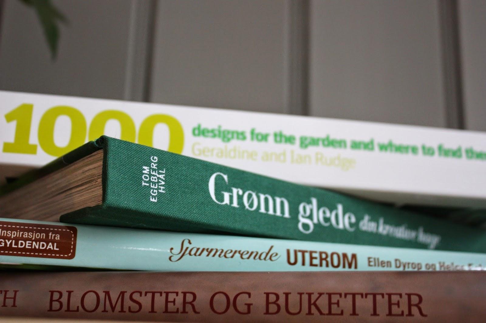 VåRLI Nye hageboker i bokhylla