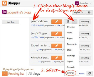 Screenshot to illustrate post template feature = step 2