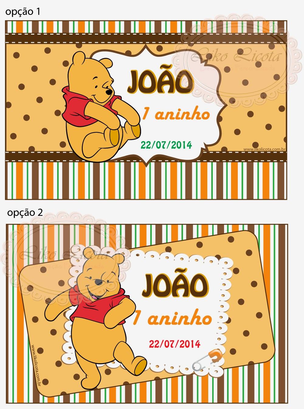 adesivos personalizados para lembrancinhas ursinho pooh