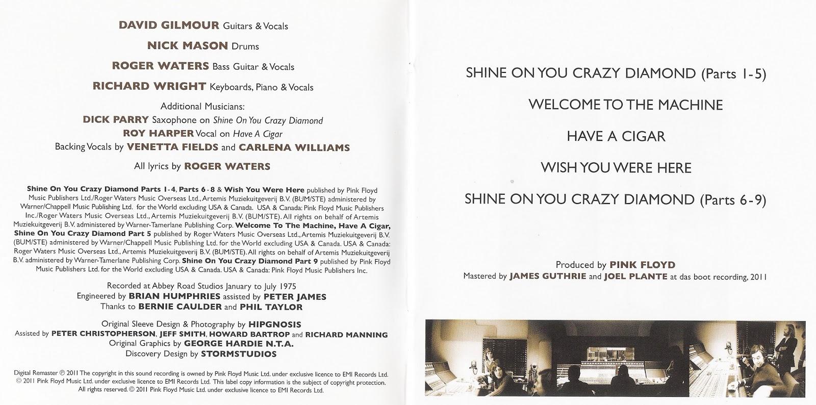 lyrics of wish you were here: