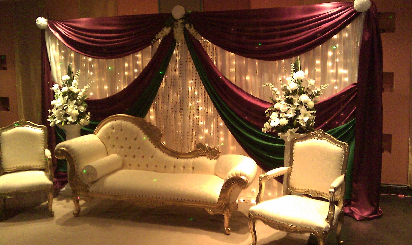 Mehndi Stage Hire : Asian wedding and mehndi stages backdrops