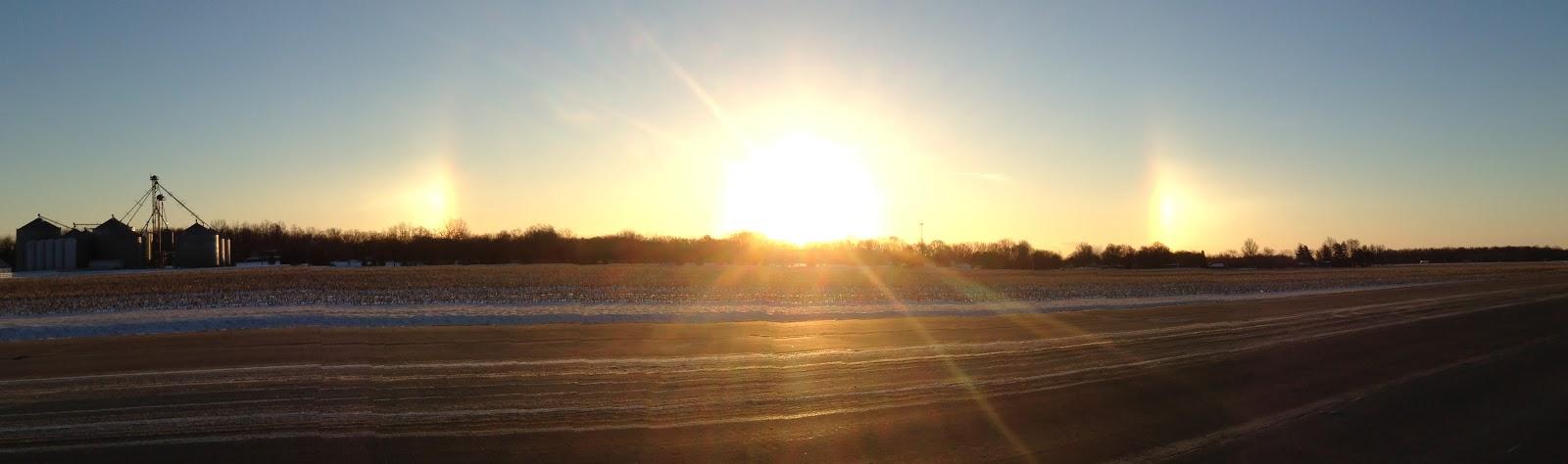 sun dog lights on both sides of the sun