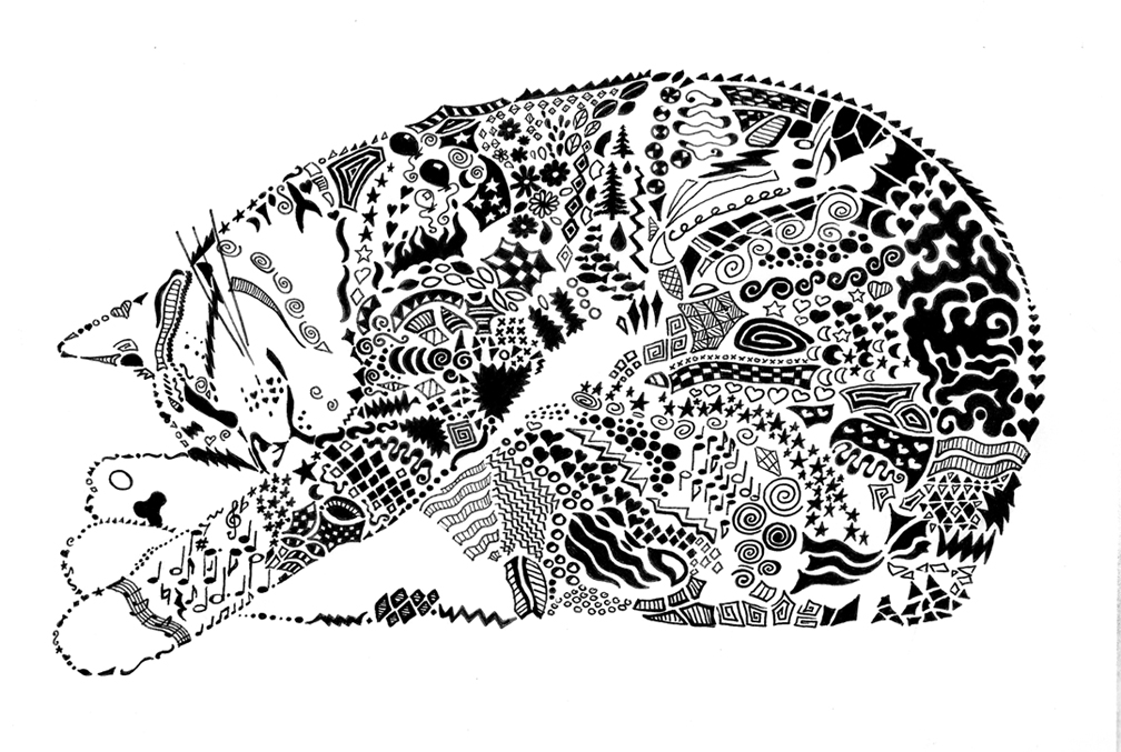 Doodle Cat By Llyzabeth