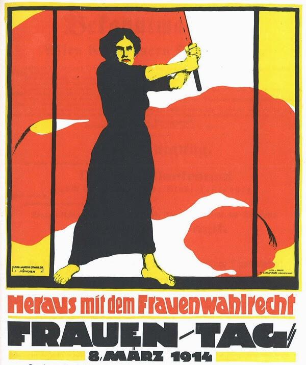 Plakatas moters dienai (1914 m., Vokietija)