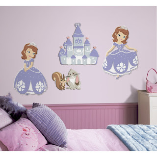 Bring your walls to life with these 3D Sofia the First foam characters   This is a quick and easy way to add 3D decor to any space. Business  Sofia The First Bedroom Decor