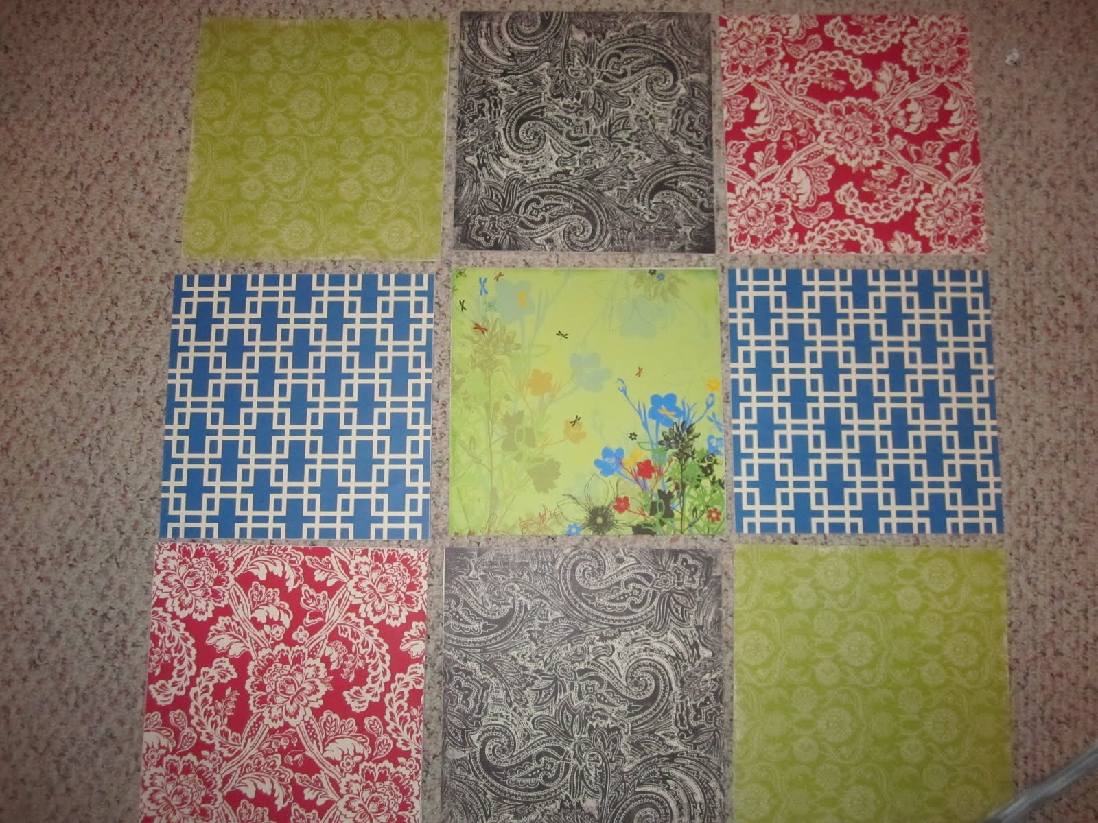 Wall Decor With Scrapbook Paper : Cheap college art projects scrapbook paper wall decor
