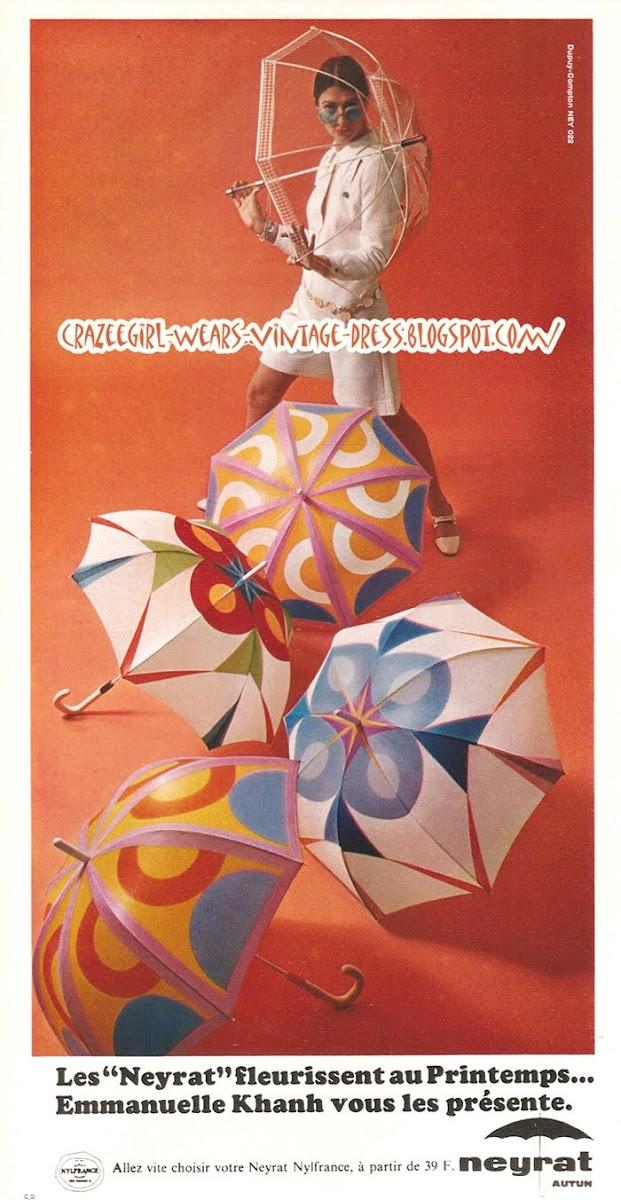 Umbrella Neyrat - Emmanuelle Khanh - 1968