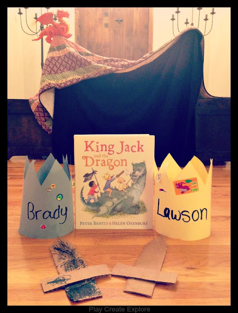 Activity and Crafts for the book King Jack and the Dragon by Peter Bently