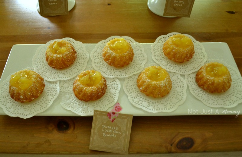 Pineapple Upside Down Mini Bundt Cakes