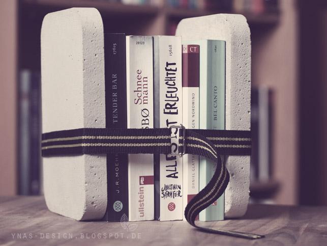 Ynas Design Blog, Buchstützen aus Beton