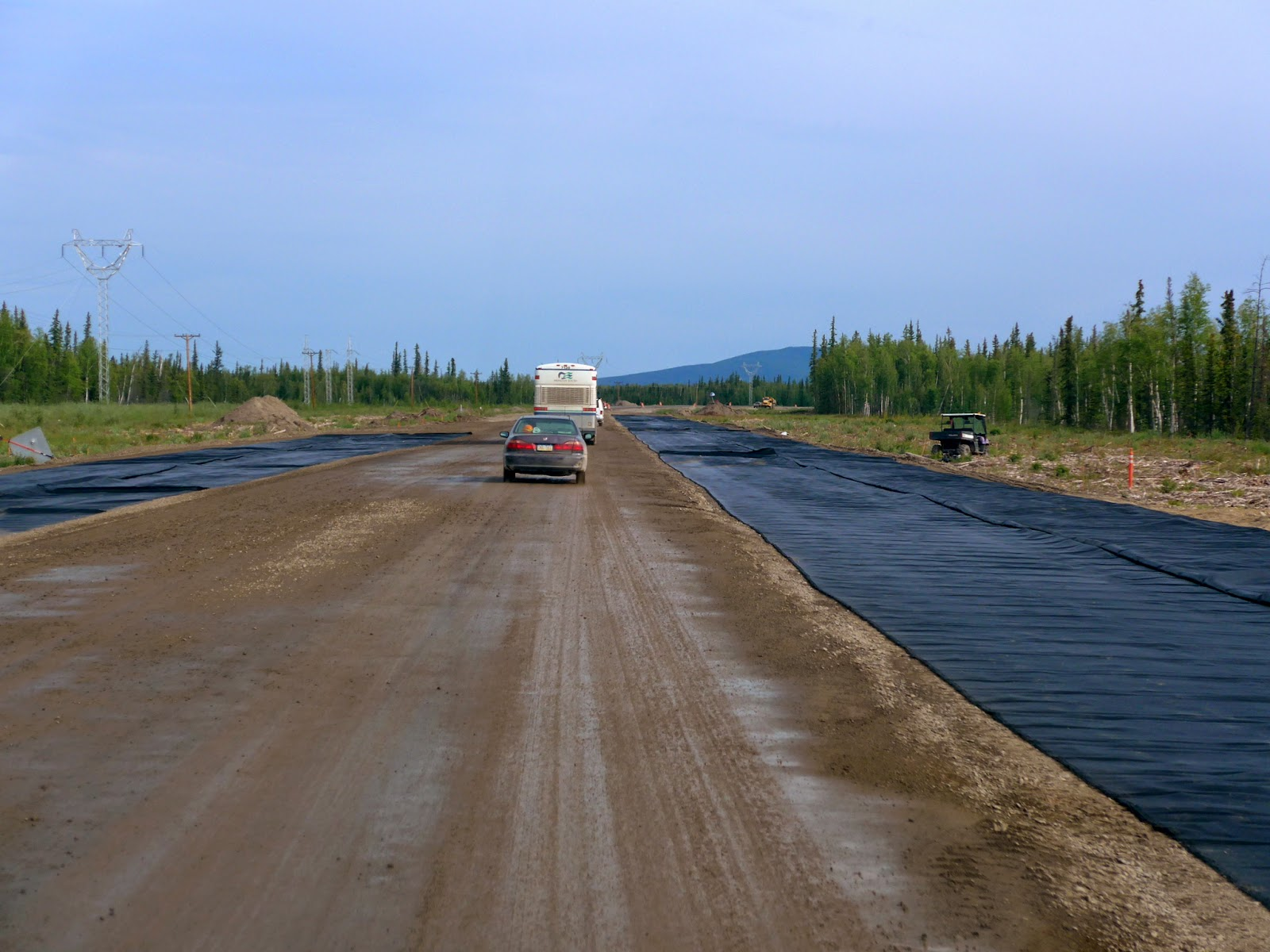 Road Construction north of Denali and south of Fairbanks.
